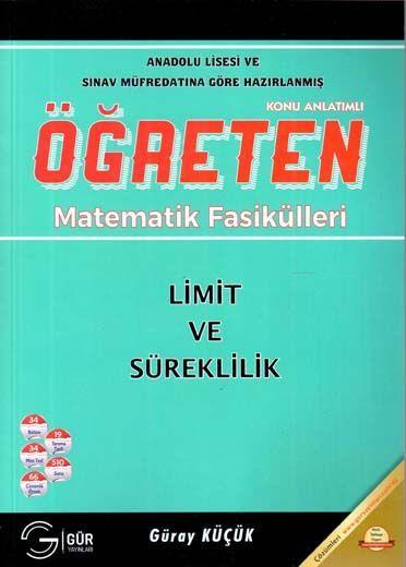 Gür Yayınları Öğreten Matematik Fasikülleri Limit ve Süreklilik Konu Anlatımlı