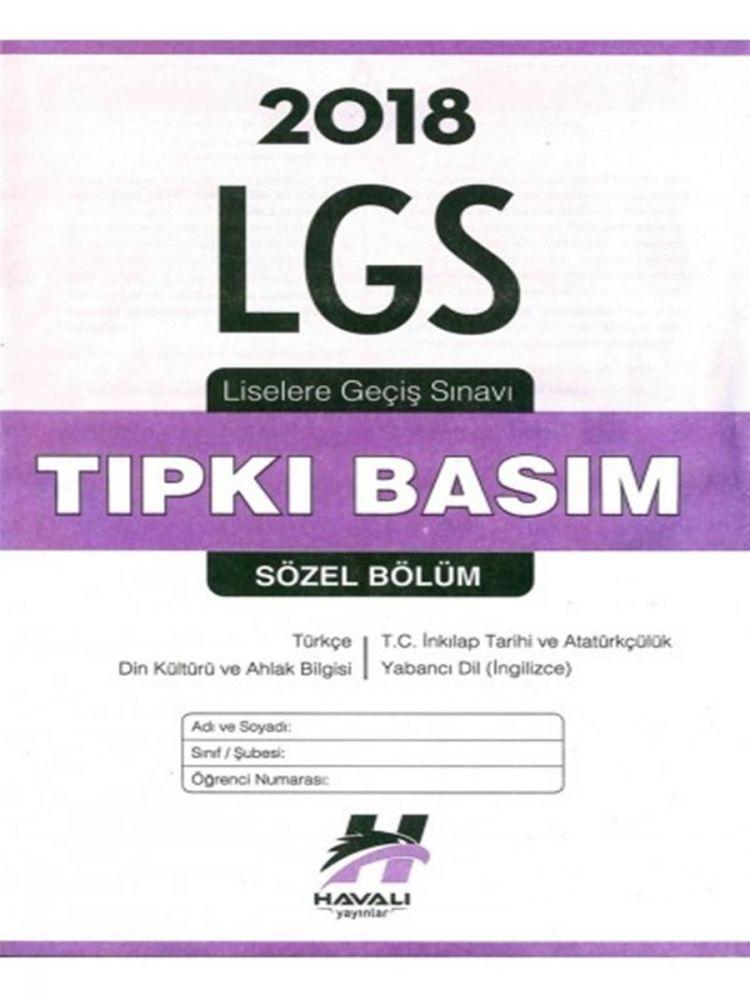 Havalı Yayınları LGS Tıpkı Basım Çıkmış Sorular