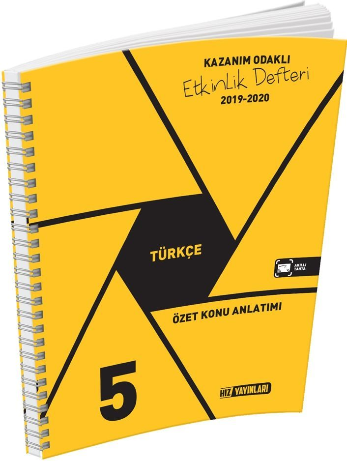 Hız Yayınları 5. Sınıf Türkçe Kazanım Odaklı Etkinlik Defteri