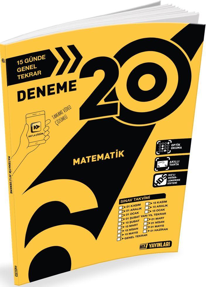 Hız Yayınları 6. Sınıf Matematik 20 li Deneme