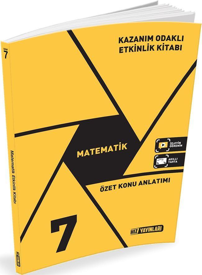 Hız Yayınları 7. Sınıf Matematik Kazanım Odaklı Etkinlik Kitabı Özet Konu Anlatımlı