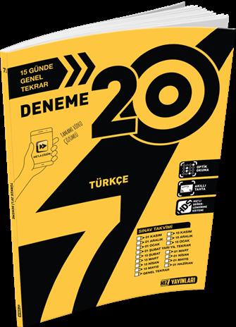 Hız Yayınları 7. Sınıf 20\'li Türkçe Deneme