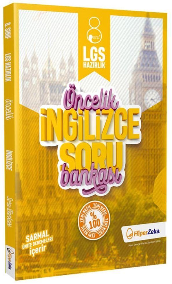 Hiper Zeka Yayınları 8. Sınıf LGS İngilizce Öncelik Soru Bankası