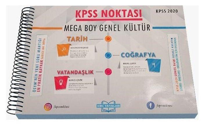 HMC Yayınları 2020 KPSS Noktası Genel Kültür Mega Boy Poster Ders Notları