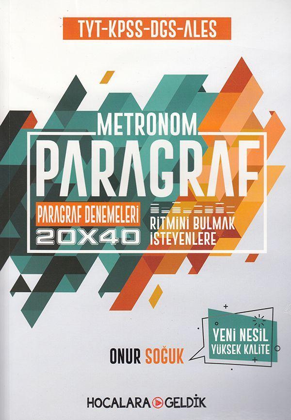 Hocalara Geldik  TYT KPSS DGS ALES Metronom Paragraf Denemeleri 20x40