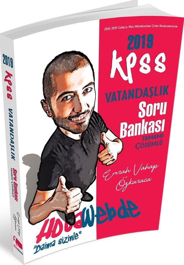 Hocawebde Yayınları 2019 KPSS Vatandaşlık Tamamı Çözümlü Soru Bankası