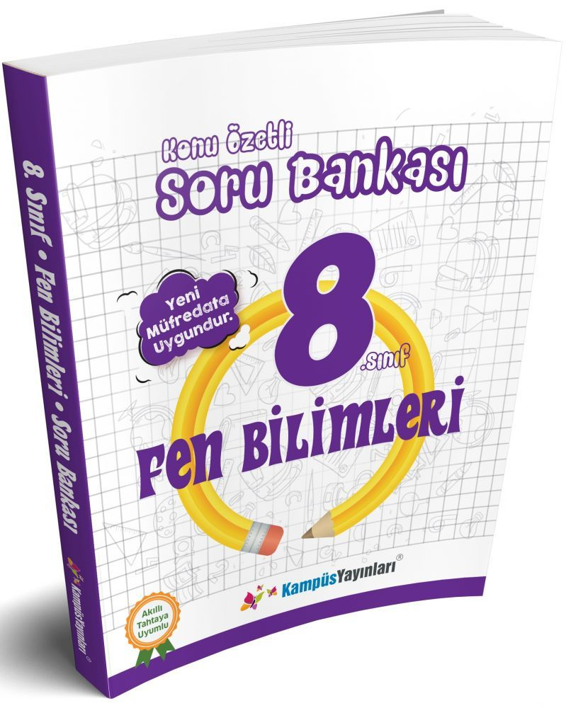 Kampüs Yayınları 8. Sınıf Fen Bilimleri Konu Özetli Soru Bankası