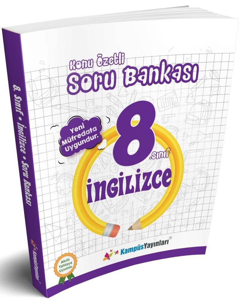 Kampüs Yayınları 8. Sınıf İngilizce Konu Özetli Soru Bankası