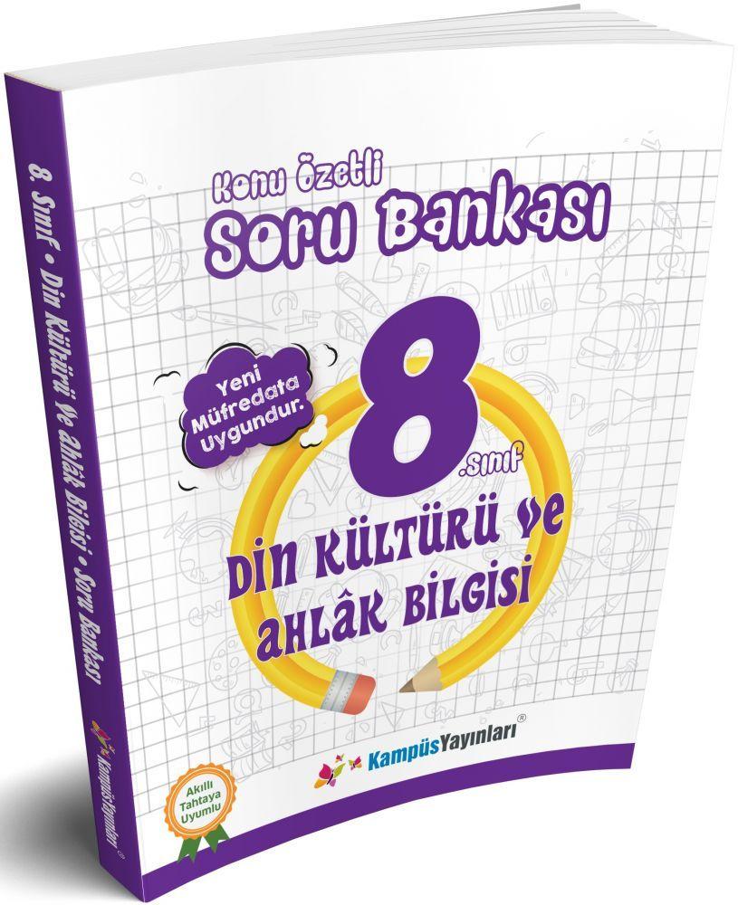 Kampüs Yayınları 8. Sınıf Din Kültürü ve Ahlak Bilgisi Konu Özetli Soru Bankası