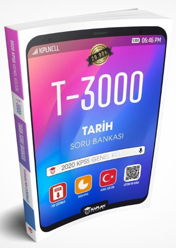 Kaplan Akademi Yayınları 2020 KPSS Tarih Tamamı PDF Çözümlü T 3000 Soru Bankası