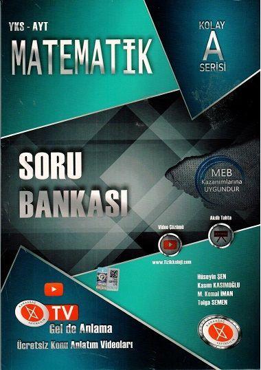 Karaağaç Yayınları AYT Matematik Soru Bankası Kolay A Serisi