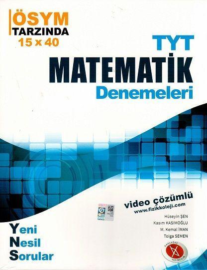 Karaağaç Yayınları TYT Matematik Denemeleri Video Çözümlü