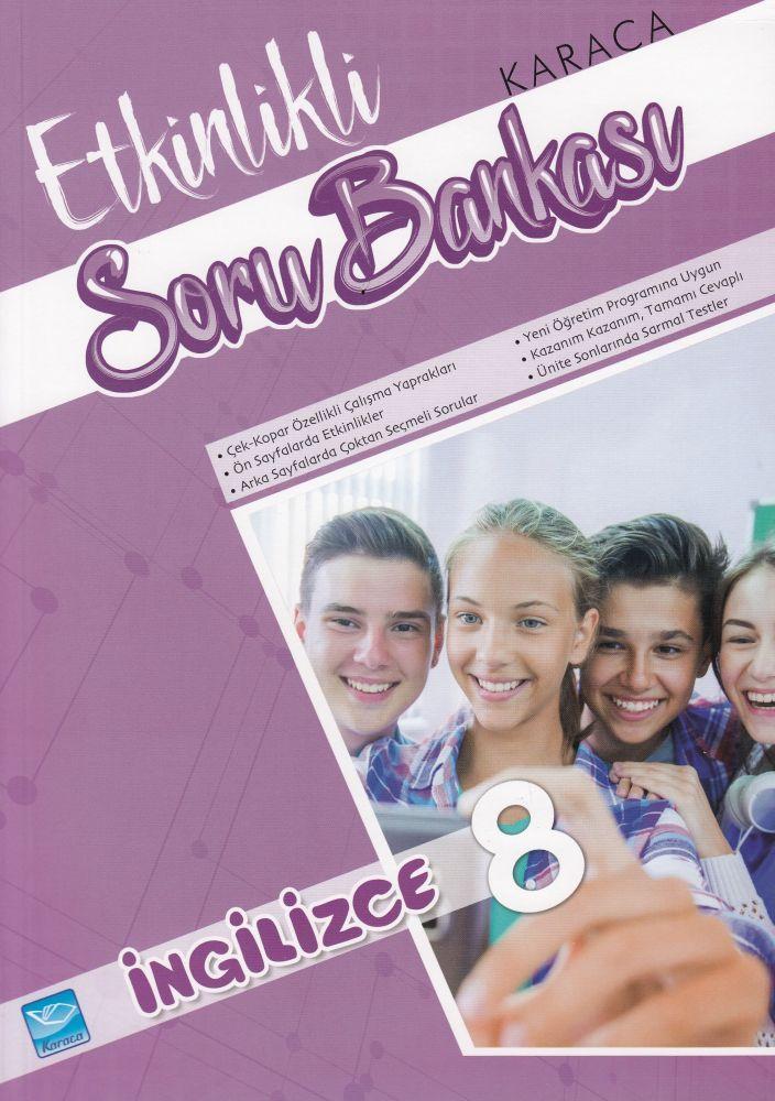 Karaca Eğitim Yayınları 8. Sınıf İngilizce Etkinlikli Soru Bankası