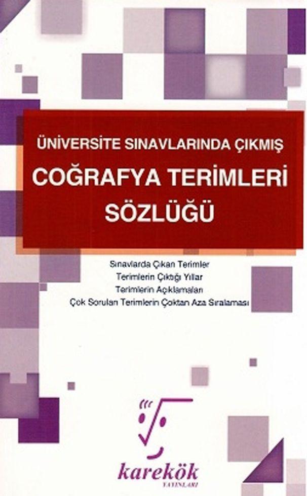 Karekök Yayınları Coğrafya Terimleri Sözlüğü