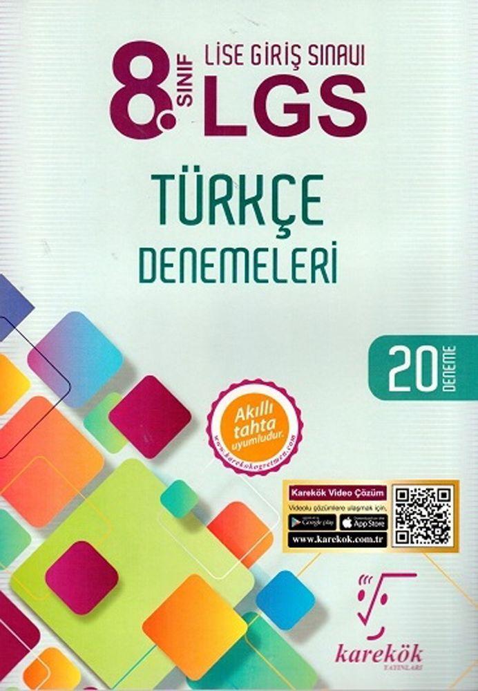 Karekök Yayınları 8. Sınıf LGS Türkçe Denemeleri