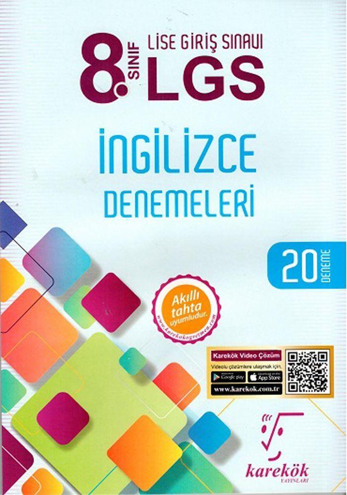 Karekök Yayınları 8. Sınıf LGS İngilizce Denemeleri