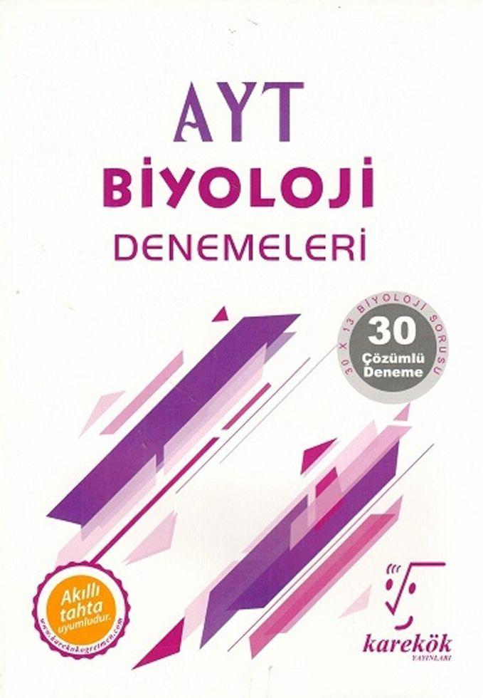Karekök Yayınları AYT Biyoloji 30lu Denemeleri
