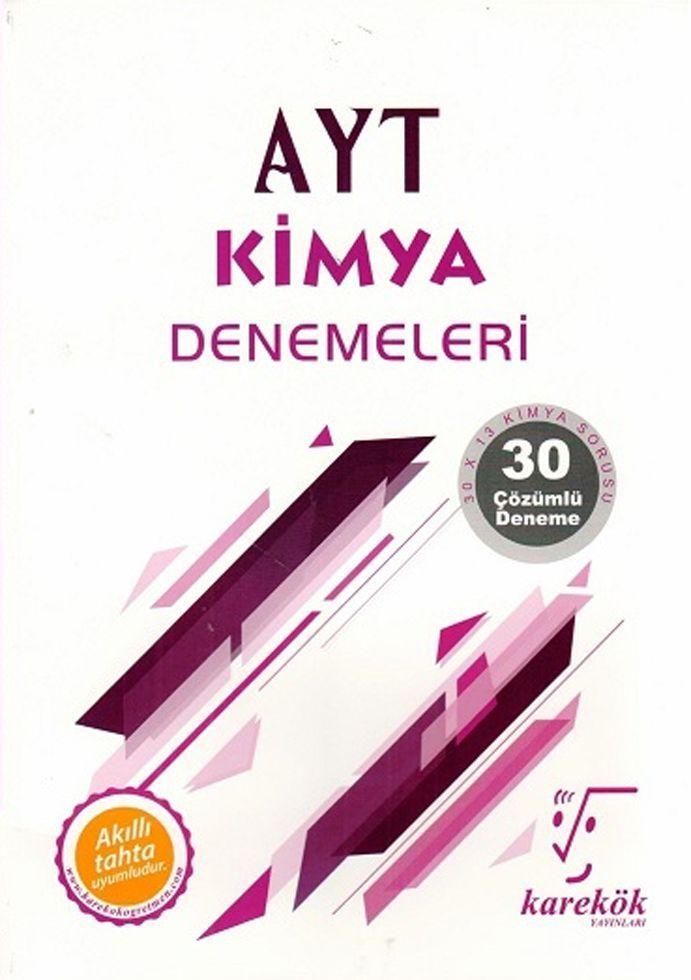 Karekök Yayınları AYT Kimya 30lu Denemeleri