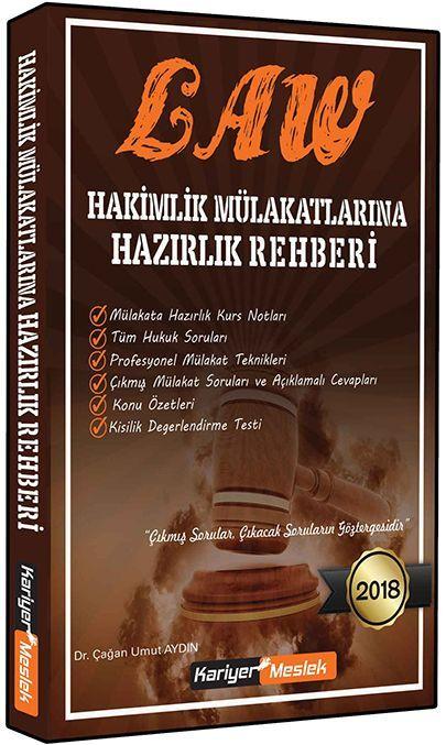 Kariyer Meslek Yayınları 2018 Law Hakimlik Mülakatlarına Hazırlık Rehberi