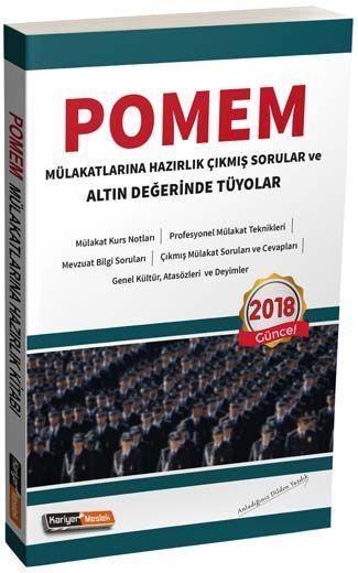 Kariyer Meslek Yayınları POMEM Mülakatlarına Hazırlık Çıkmış Sorular ve Altın Değerinde Tüyolar