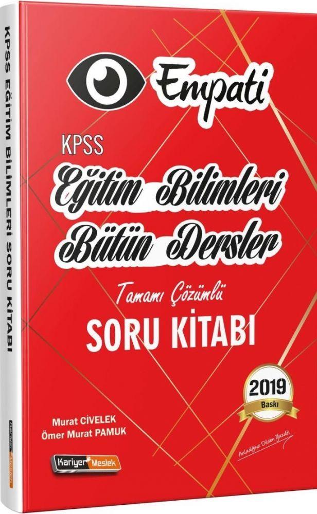 Kariyer Meslek Yayınları KPSS Eğitim Bilimleri Empati Bütün Dersler Tamamı Çözümlü Soru Kitabı