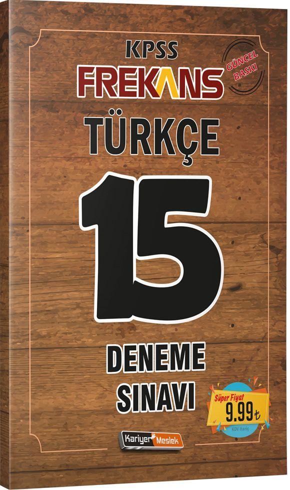 Kariyer Meslek Yayınları KPSS Türkçe Frekans 15 Deneme Sınavı