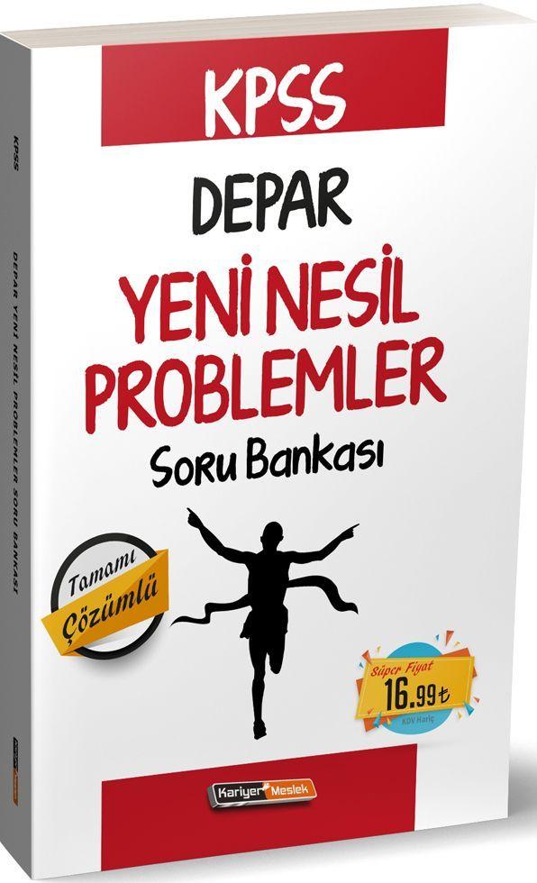 Kariyer Meslek Yayınları KPSS Depar Yeni Nesil Problemler Soru Bankası