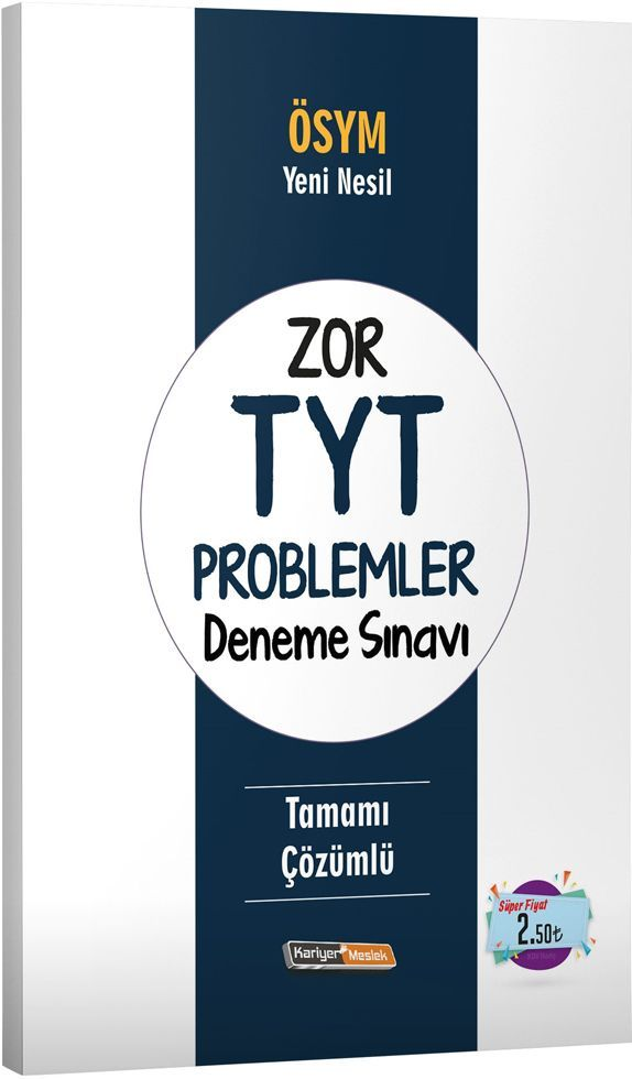 Kariyer Meslek Yayınları Zor TYT Problemler Deneme Sınavı