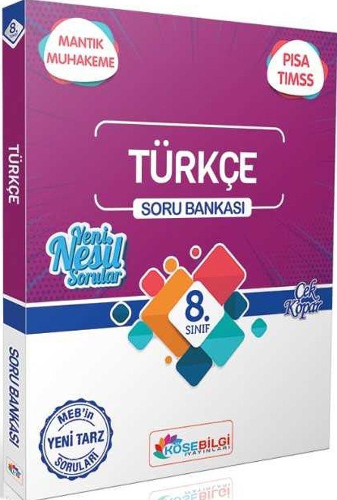 KöşeBilgi Yayınları 8. Sınıf Türkçe Özet Bilgili Soru Bankası