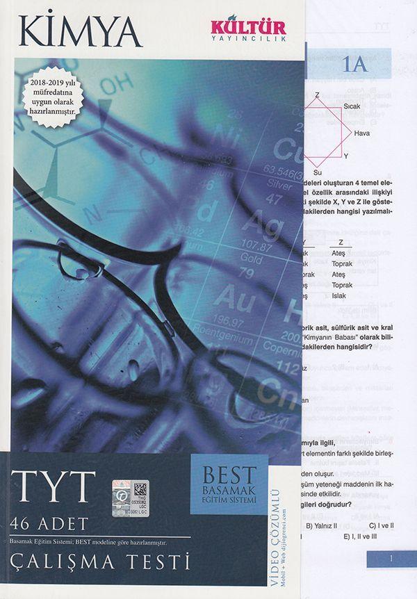 Kültür Yayıncılık TYT Kimya  BEST Çalışma Testi