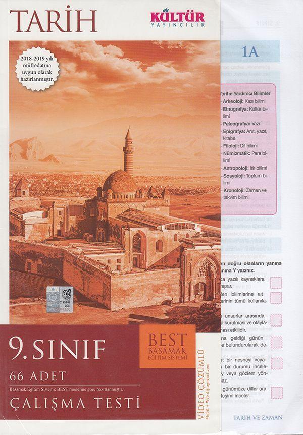 Kültür Yayıncılık 9. Sınıf Tarih BEST Çalışma Testi