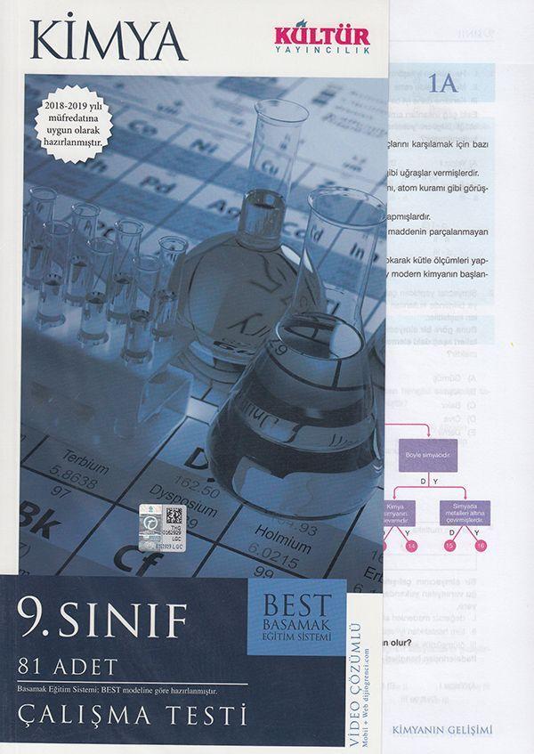 Kültür Yayıncılık 9. Sınıf Kimya BEST Çalışma Testi
