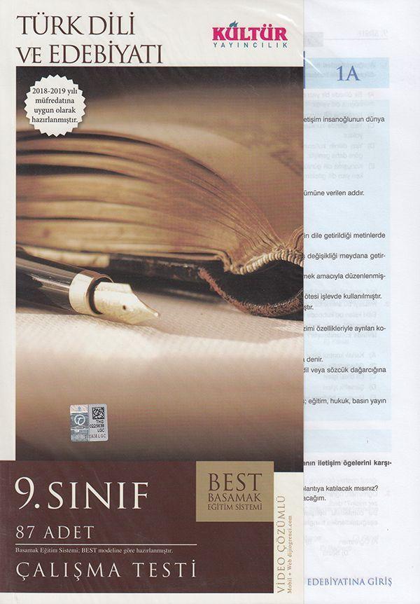Kültür Yayıncılık 9. Sınıf Türk Dili ve Edebiyatı BEST Çalışma Testi