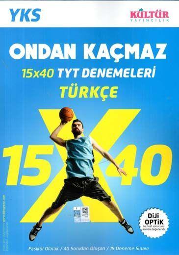 Kültür Yayıncılık TYT Ondan Kaçmaz Türkçe 15 x 40  Denemeleri