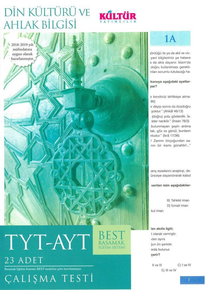 Kültür Yayıncılık TYT AYT Din Kültürü ve Ahlak Bilgisi BEST Çalışma Testi