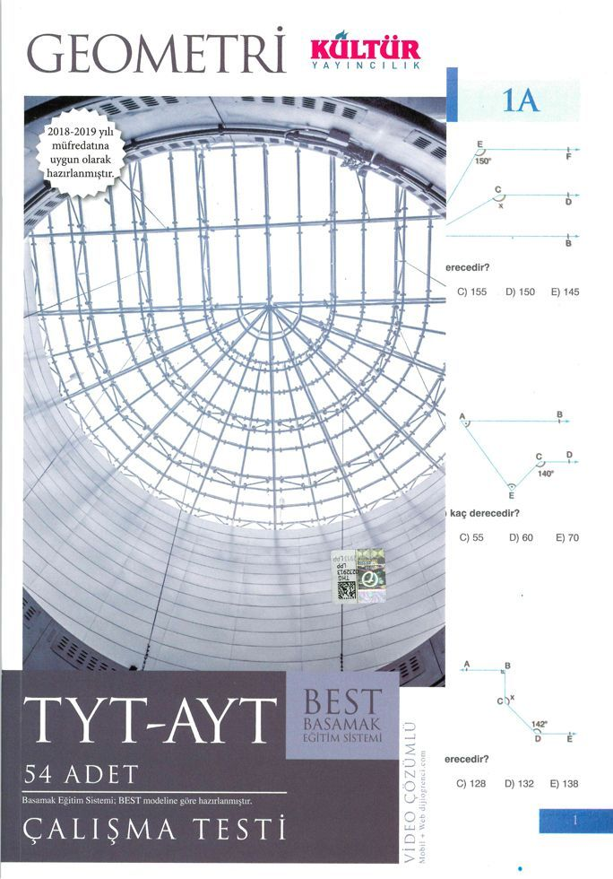 Kültür Yayıncılık TYT AYT Geometri BEST Çalışma Testi