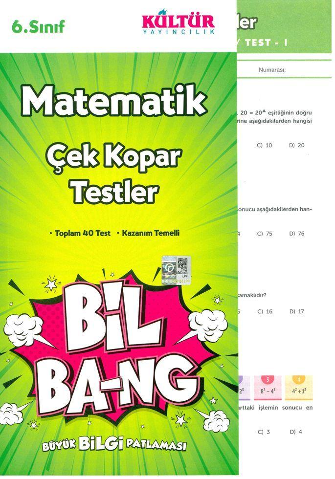 Kültür Yayıncılık 6. Sınıf Matematik Bil Bang Çek Kopar Testler