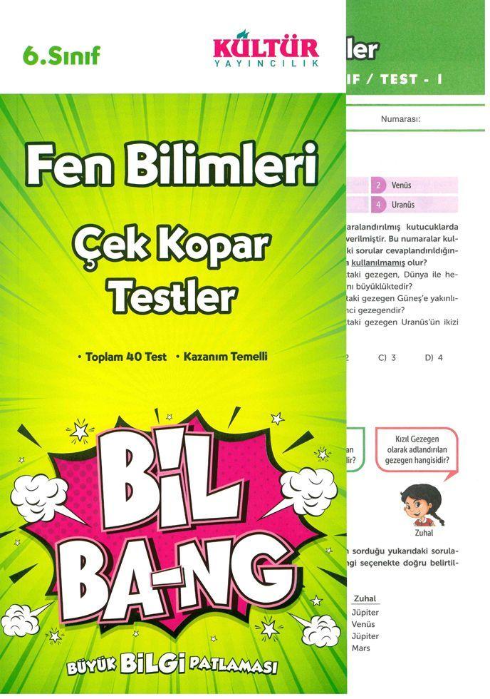 Kültür Yayıncılık 6. Sınıf Fen Bilimleri Bil Bang Çek Kopar Testler