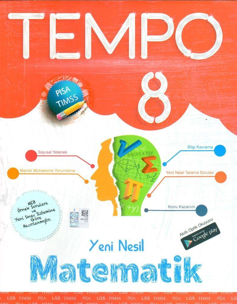 Kırmızı Beyaz Yayınları 8. Sınıf Matematik Yeni Nesil Tempo