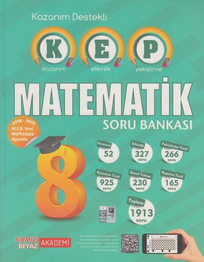 Kırmızı Beyaz Yayınları 8. Sınıf Matematik KEP Soru Bankası