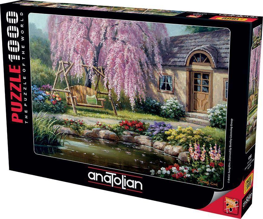 Kiraz Ağacı Cherry Blossom Cottage 1000 Parça Puzzle - Yapboz