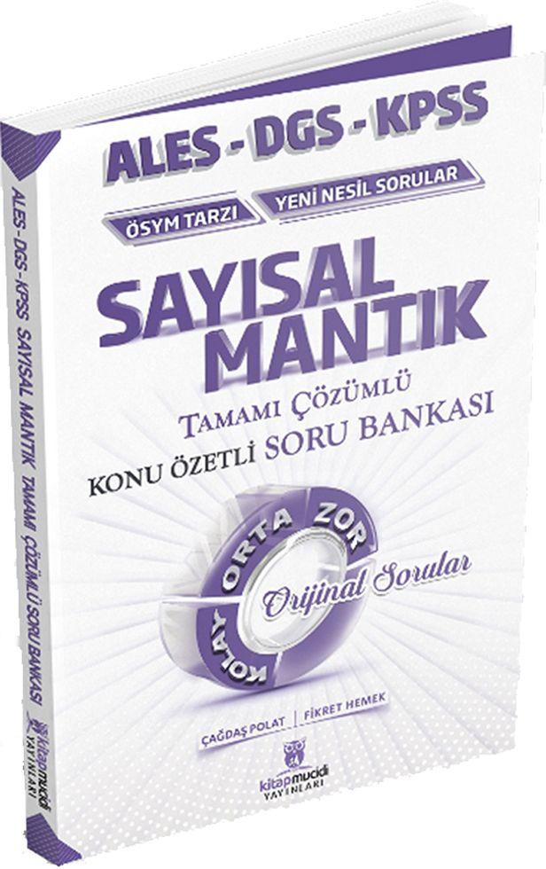 Kitap Mucidi Yayınları ALES DGS KPSS Sayısal Mantık Tamamı Çözümlü Konu Özetli Soru Bankası
