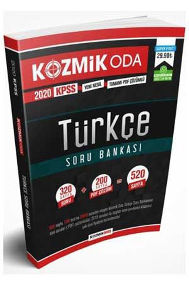 Kozmik Oda Yayıncılık 2020 KPSS Türkçe Soru Bankası PDF Çözümlü