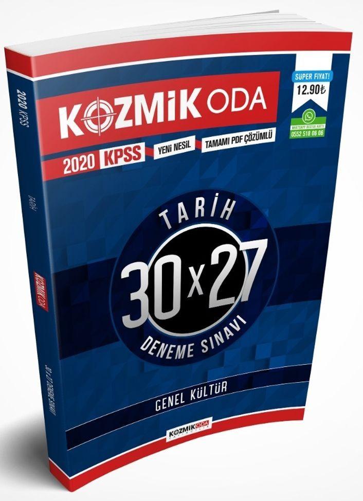 Kozmik Oda Yayınları 2020 KPSS Tarih 30X27 Tamamı PDF Çözümlü Deneme Sınav Seti