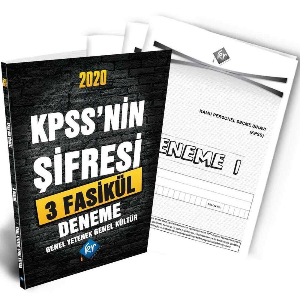 KR Akademi 2020 KPSSnin Şifresi GY GK 3 Deneme