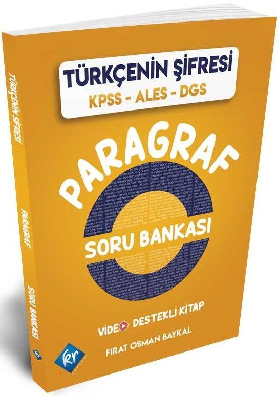 KR Akademi KPSS ALES DGS Türkçenin Şifresi Paragraf Soru Bankası
