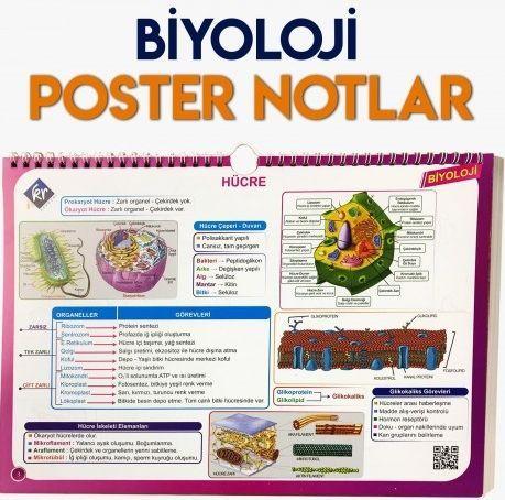 KR Akademi Yayınları Biyoloji Poster Notlar