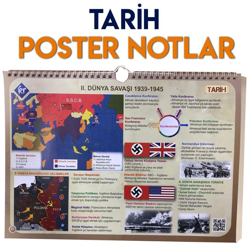 KR Akademi Yayınları Tarih Poster Notlar