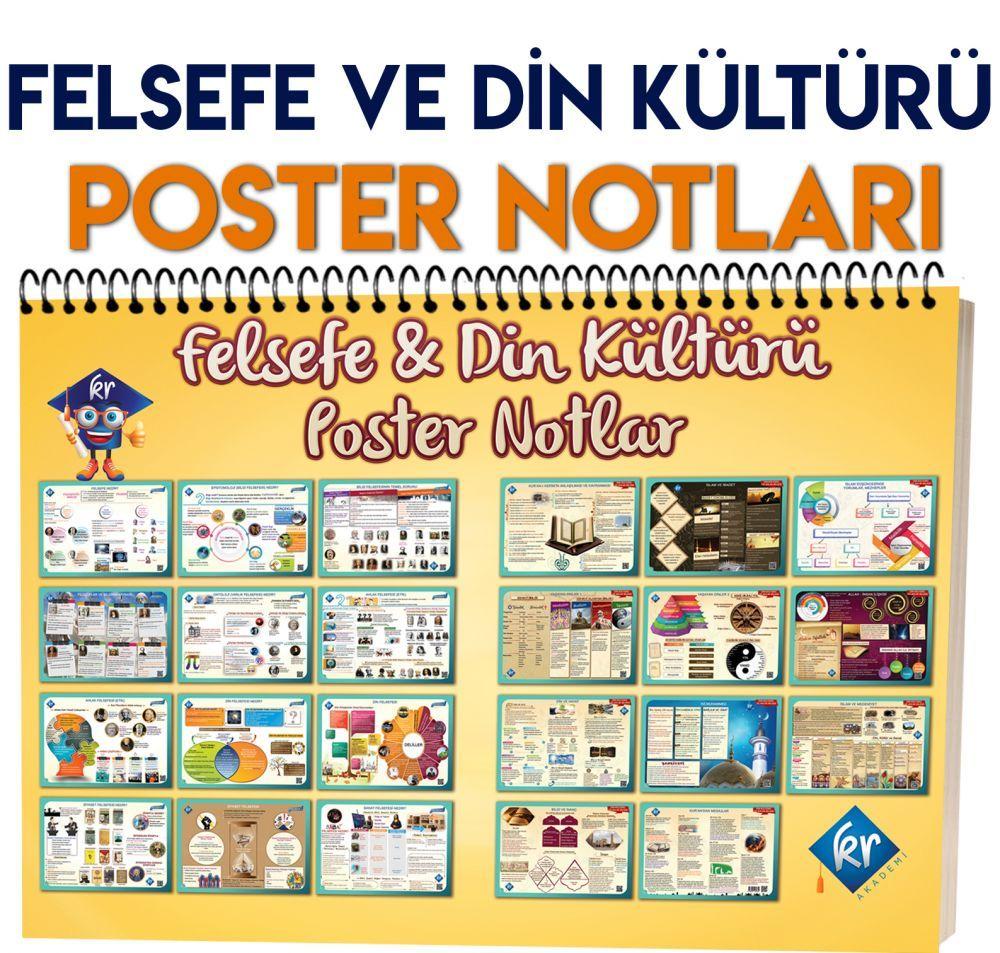 KR Akademi Yayınları Felsefe ve Din Kültürü Poster Notlar