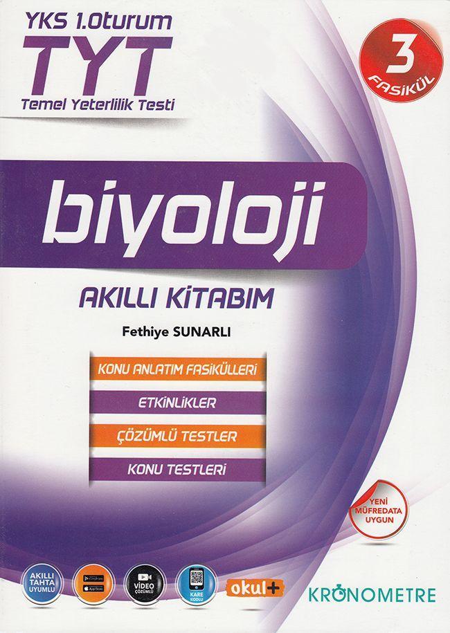 Kronometre TYT Biyoloji Akıllı Kitabım Konu Anlatım Fasikülleri 3 Kitap
